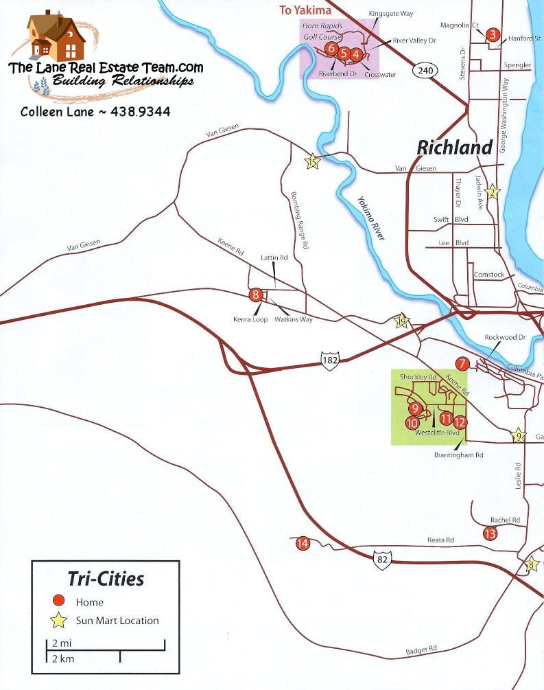 Page 1, 2009 Parade Of Homes Tri Cities Map