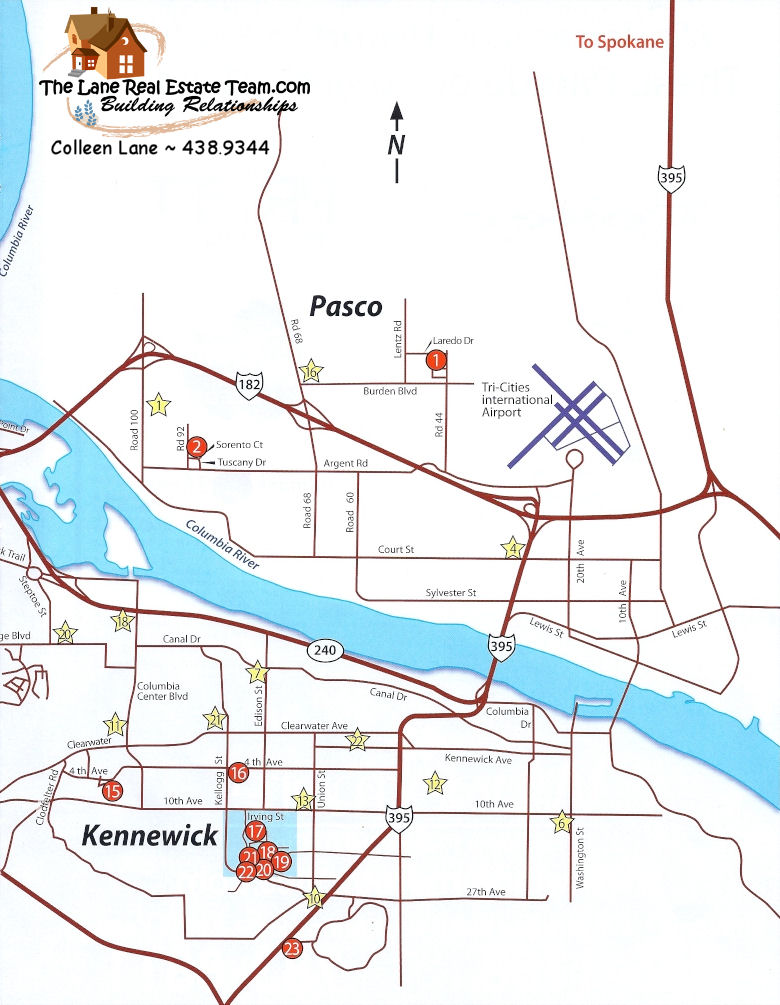 Page 2, 2009 Parade Of Homes Tri Cities Map