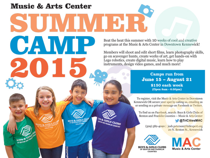 Music & Art Center's Summer Camp 2015 in Kennewick, Washington
