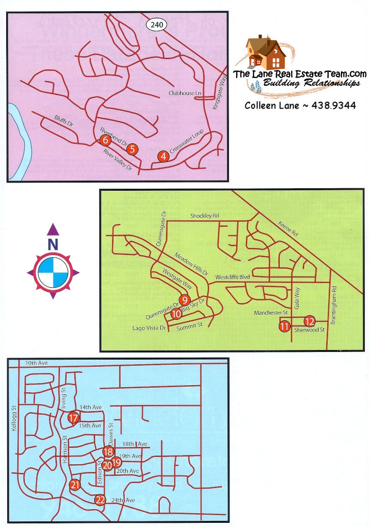 Page 3, 2009 Parade of Homes Tri Cities Map