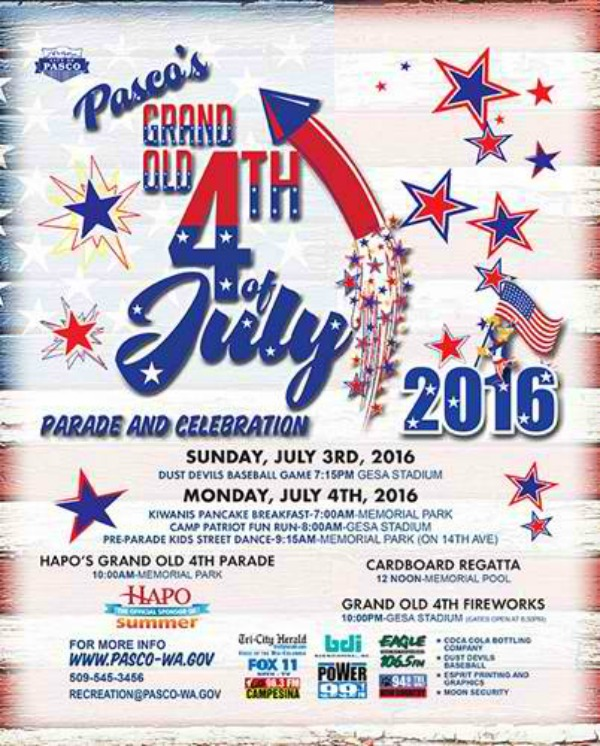 Grand Old 4th of July Parade and Celebration: A Festive and Meaningful Occasion to be Spent with Fun Activities | Pasco, WA