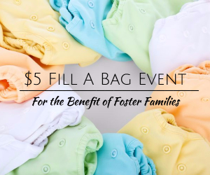 $5 Fill A Bag Event Benefiting the Local Foster Families Hosted by Sassafras Boutique | Kennewick, WA