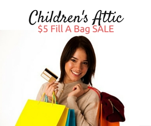 Children's Attic Presents $5 Fill A Bag SALE Featuring Products for Newborn Babies to Teen Size 12 | Kennewick, WA