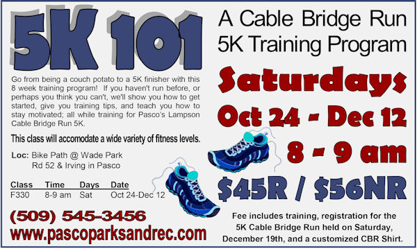 Cable Bridge Fun Run, Pasco Washington