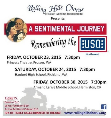 A Sentimental Journey, Tribute To The USO Prosser, Richland & Hermiston, Washington