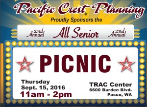 23rd Annual All Senior Picnic - A Celebration for the Older Adults Presented by the Pacific Crest Planning in Pasco, WA