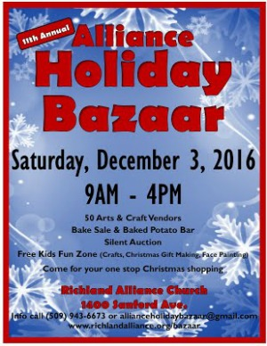 Annual Alliance Holiday Bazaar: Saving Shoppers from the Holiday Rush | Richland, WA