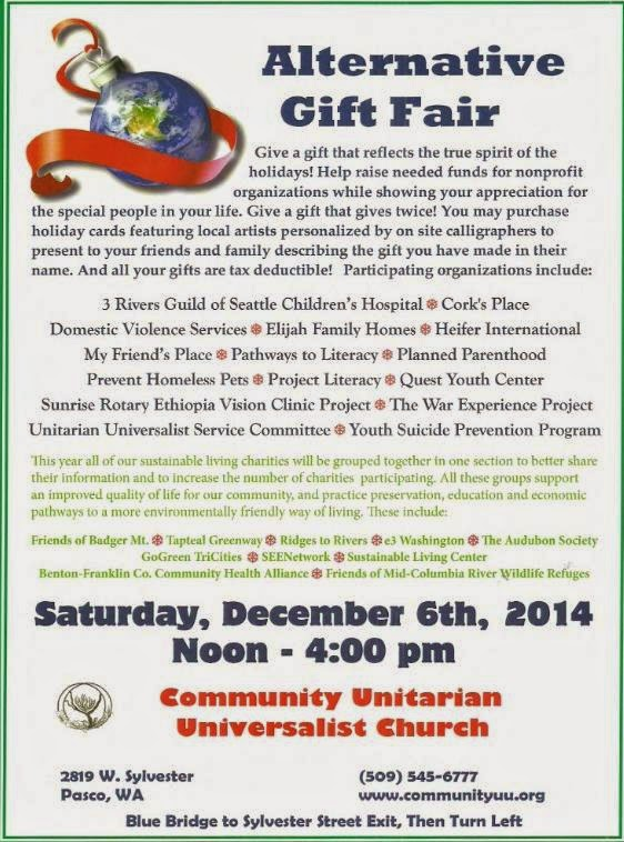 Alternative Gift Fair At The Community Unitarian Universalist Church Pasco, Washington