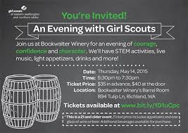An Evening With Girl Scouts Bookwalter Winery Richland, Washington