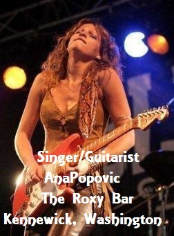 Singer/Guitarist Ana Popovic At The Roxy Bar Kennewick, Washington