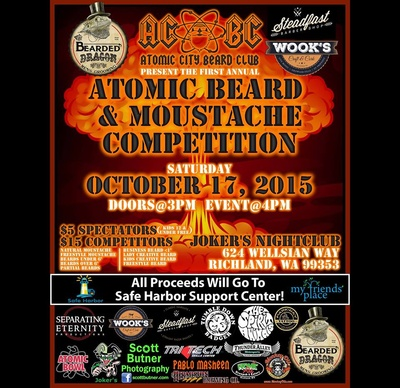 Annual Atomic Beard & Moustache Competition Richland, Washington