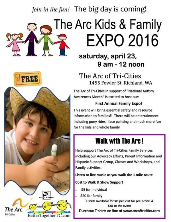 The Arc of Tri-Cities Kids & Family Expo 2016: Observing the National Autism Awareness Month | Richland, WA