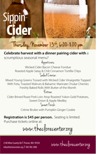 Autumn Cider Dinner Walter Clore Wine & Culinary Center Prosser, Washington