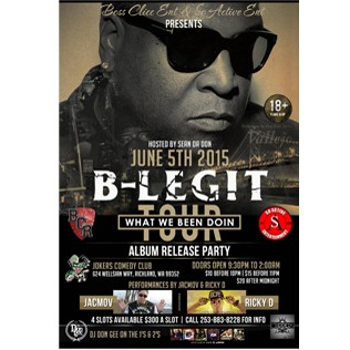 B-Legit Rap Show At Jokers Night Club Richland, Washington