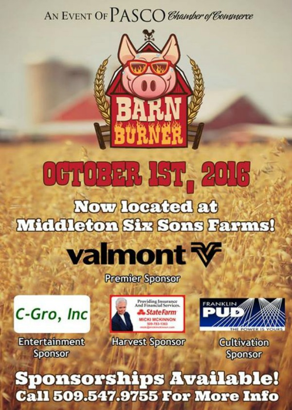 2016 Barn Burner and Middleton's Country Store and Fall Festival in Pasco, WA