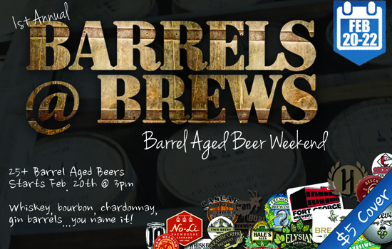 Barrels @ Brews At Brews Taphouse & Growler Fills Pasco, Washington