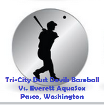 Tri-City Dust Devils Baseball Vs. Everett AquaSox Pasco, Washington