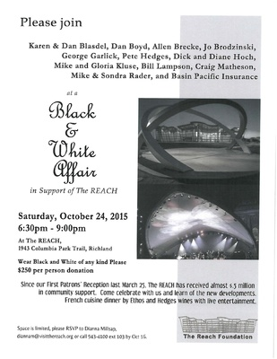 Black & White Affair At The REACH In Richland, Washington