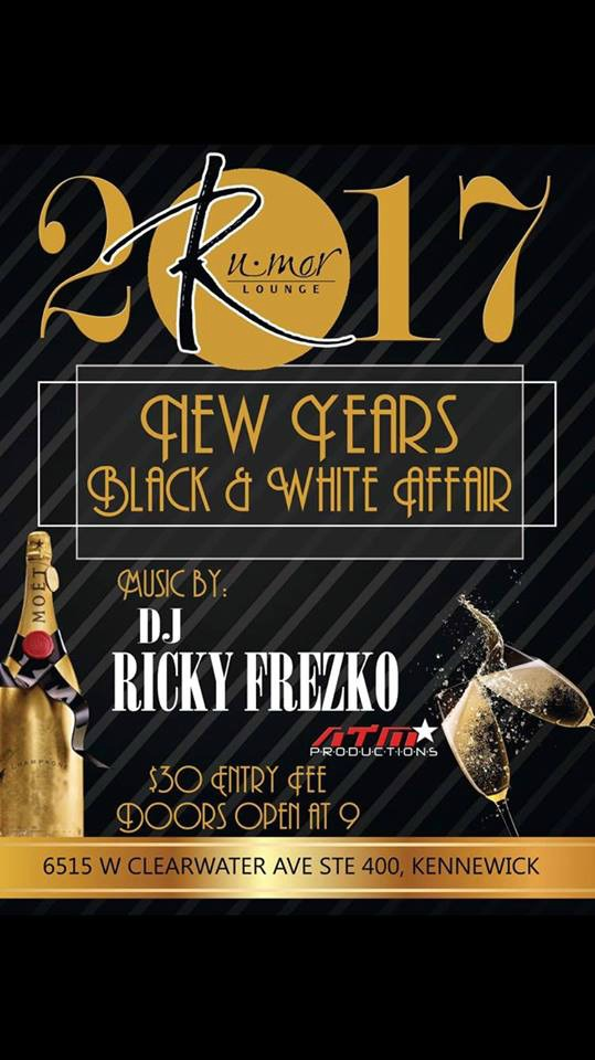 Rumor Lounge's Black and White Affair: An All Black & White Attire New Year's Eve Celebration | Kennewick