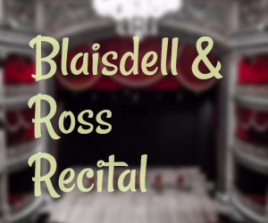 Blaisdell and Ross Recital: A Night of Soprano and Piano at Columbia Basin College Arts Center in Pasco, WA