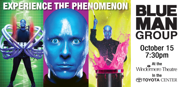 Blue Man Group Show In Toyota Center Kennewick, Washington