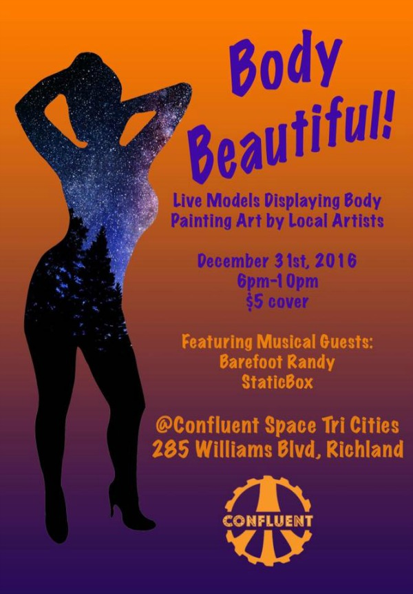 Body Beautiful: Body Painting Art at Its Finest at Confluent Space Tri-Cities | Richland, WA