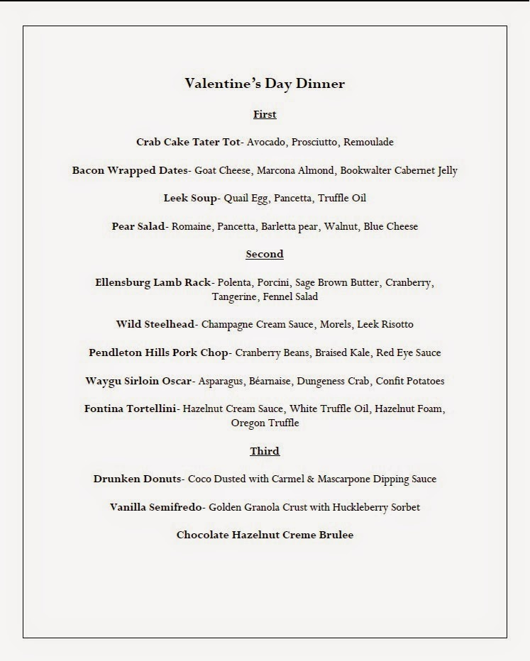 Valentine's Day Dinner At Bookwalter Winery Richland, Washington
