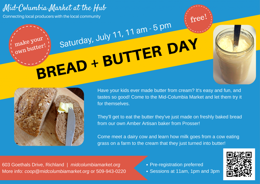 Bread And Butter Day For Kids! Mid-Columbia Market In Richland, Washington