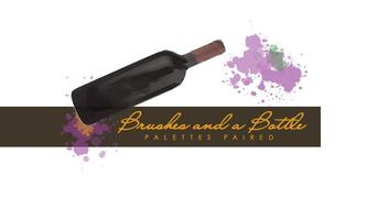 Brushes And A Bottle At Market Vineyards In Richland, Washington