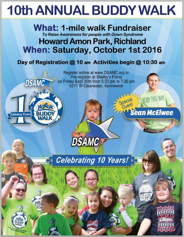 10th Annual Buddy Walk: Raising Awareness for People with Down Syndrome | Richland, WA