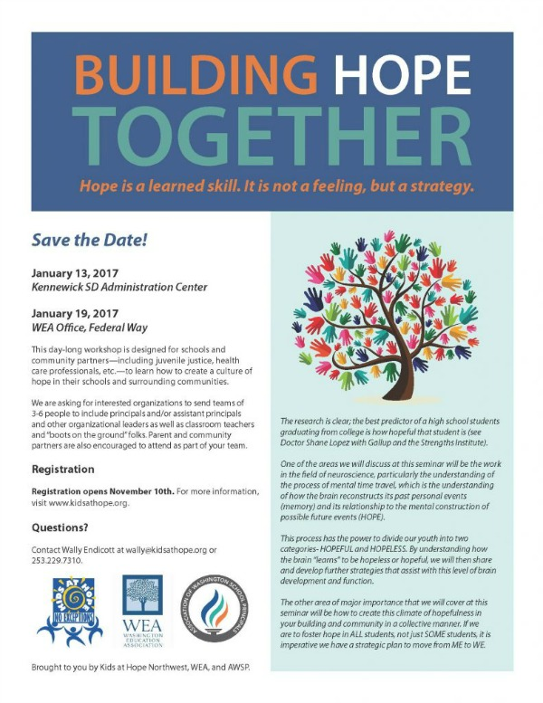 Building Hope Together: Creating a Culture of Hope in Schools and Communities | Kennewick