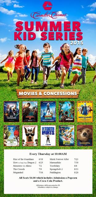 Summer Kid Series - Carmike Cinemas In Kennewick, Washington