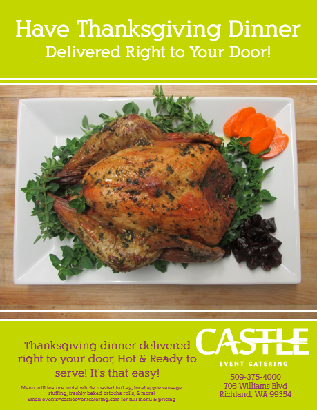 Castle Catering's Thanksgiving Delivery! In Richland, Washington