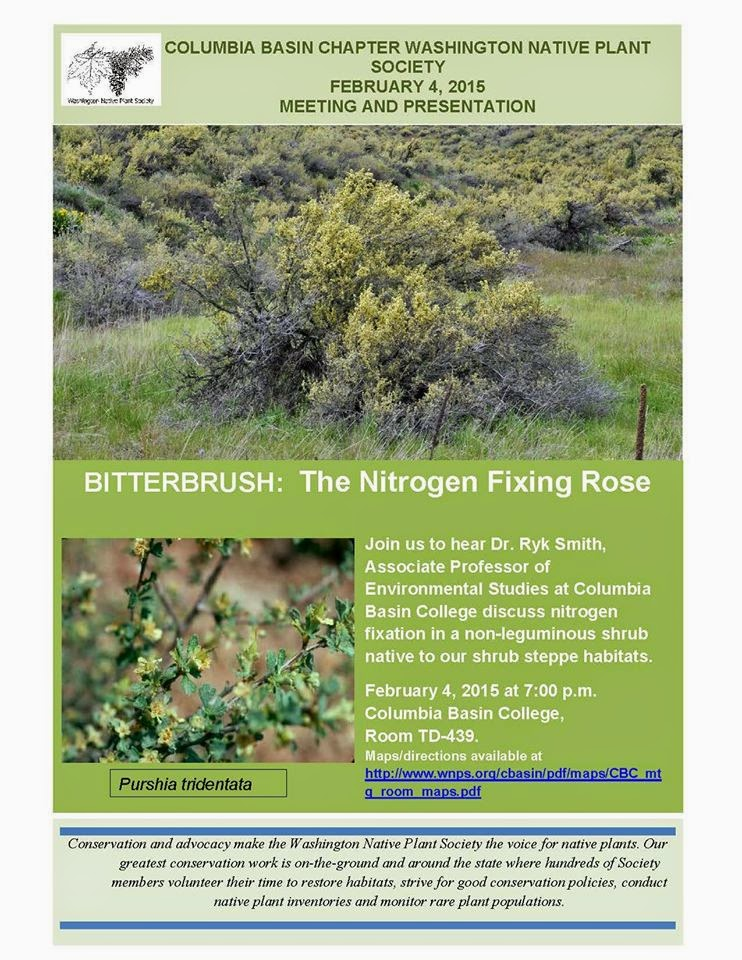CBC Chapter Of The Native Plant Society Meeting & Presentation Pasco, Washington