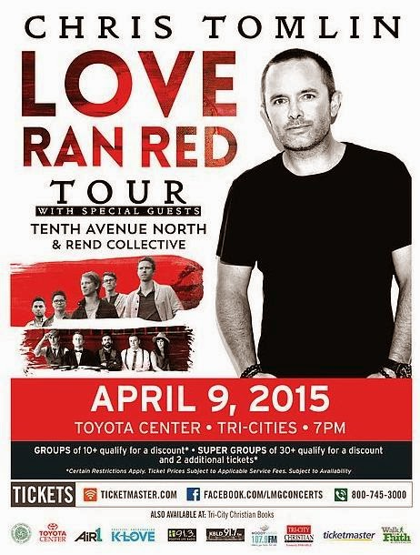 Chris Tomlin - Love Ran Red Tour Toyota Center In Kennewick, Washington