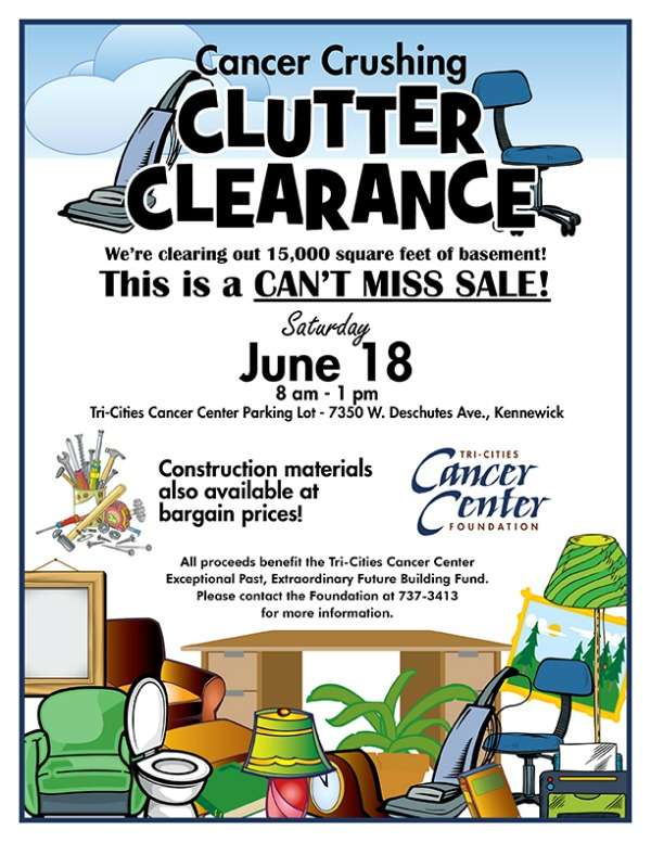 Cancer Crushing Clutter Clearance: Shop for a Cause at Tri-Cities Cancer Center Foundation in Kennewick