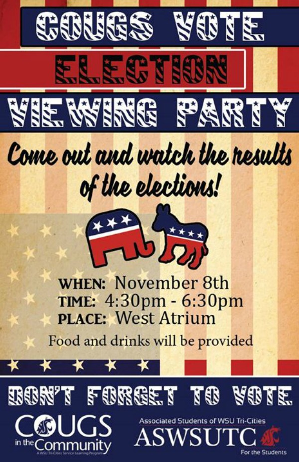 Cougs Vote: Election Viewing Party - Cast Your Vote and Keep An Eye on Election Results at WSU Tri-Cities in Richland, WA