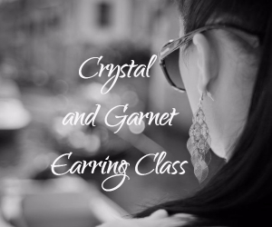Crystal and Garnet Earring Class Hosted By Bling and A Bottle at Market Vineyards | Richland, WA