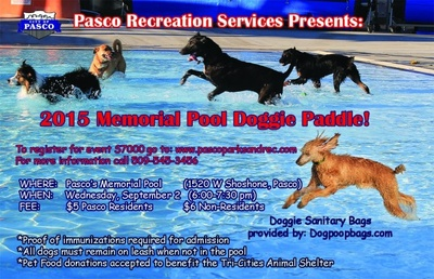 Memorial Pool Doggie Paddle At The Memorial Pool In Pasco, Washington