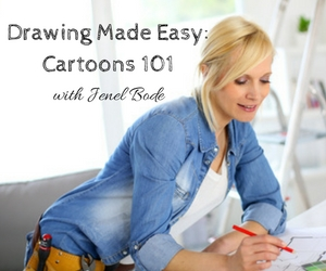 Wet Palette Party Presents Drawing Made Easy: Cartoons 101 with Jenel Bode | Richland, WA