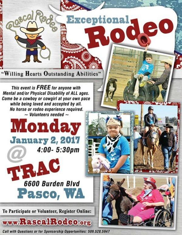 Rascal Rodeo: An Event for Individuals with Special Needs (All Ages) at TRAC Center | Pasco, WA