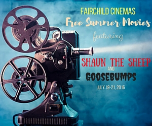 Fairchild Cinemas Free Summer Movies Featuring 'Shaun The Sheep' and 'Goosebumps' | Pasco, WA