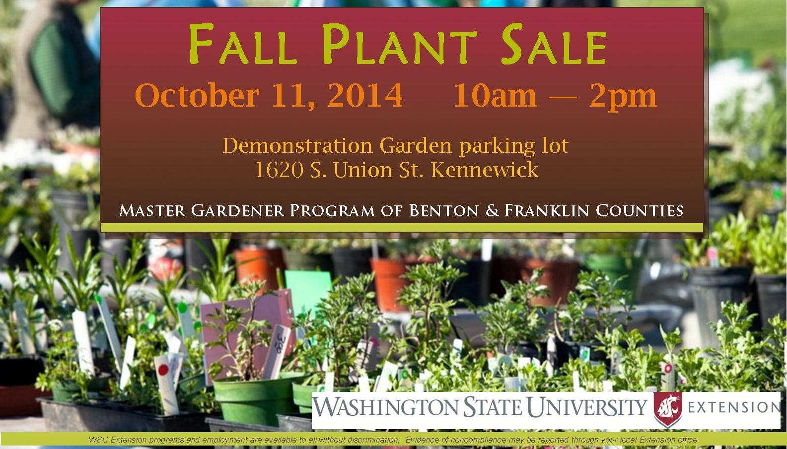 WSU Master Gardeners Fall Plant Sale In Kennewick, Washington