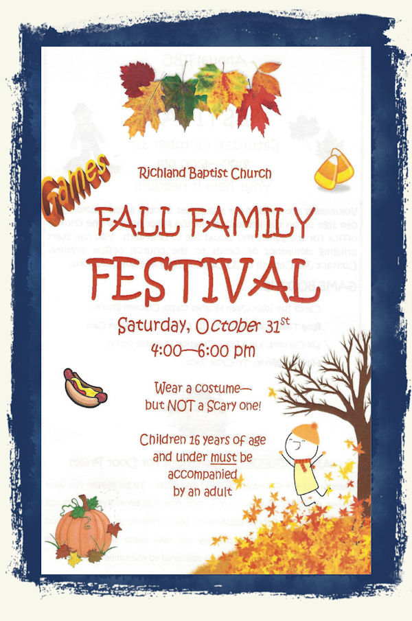 Richland Baptist Church Fall Family Festival