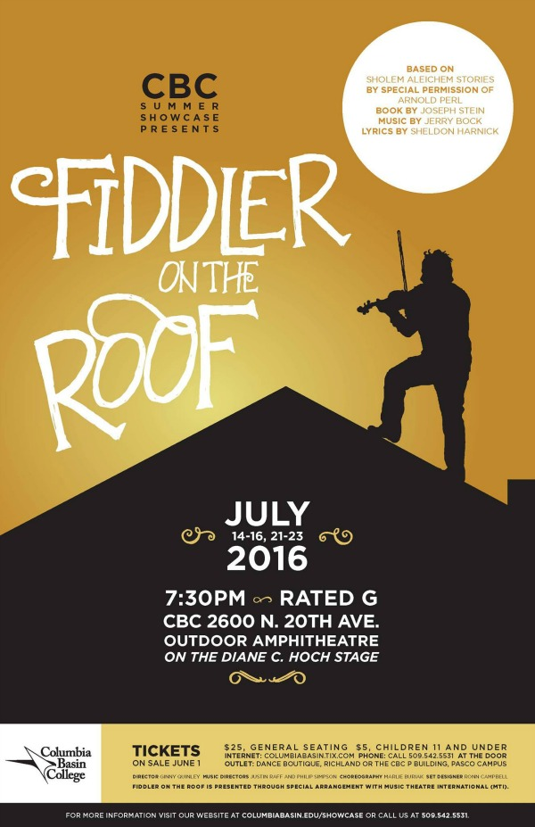 Fiddler On The Roof at the Columbia Basin College Arts Center in Pasco, WA