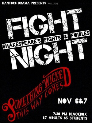 Fight Night – Hanford High Black Box Theatre Richland, Washington