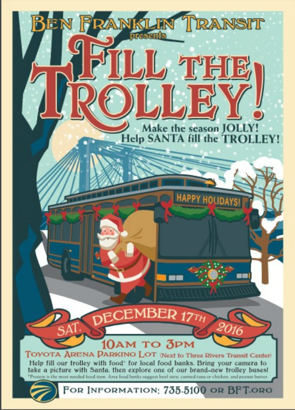 Make the Season Jolly, Help Santa Fill the Trolley at Toyota Arena | Kennewick