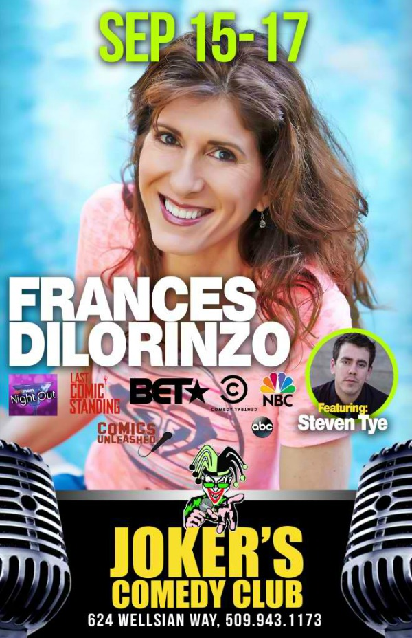 Frances Dilorinzo Performs at Joker's Comedy Club: Spreading Good Vibes | Richland, WA