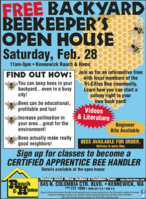 Free Backyard Beekeepers Open House In Kennewick, Washington