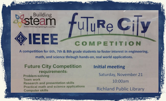 Future City STEAM Competition Richland Wa Public Library